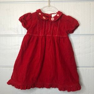 Hanna Andersson 80/2 Red Dress Corduroy